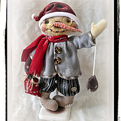 Куклы и игрушки ручной работы. Ярмарка Мастеров - ручная работа Кукла. Снеговик. Handmade.