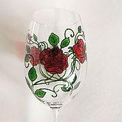 Посуда handmade. Livemaster - original item Wine glasses with stained glass painting. Handmade.