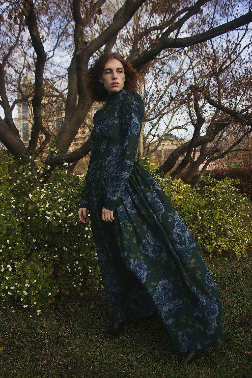 Women's dress in vintage style 'Poetry' winter garden, Dresses, Moscow,  Фото №1