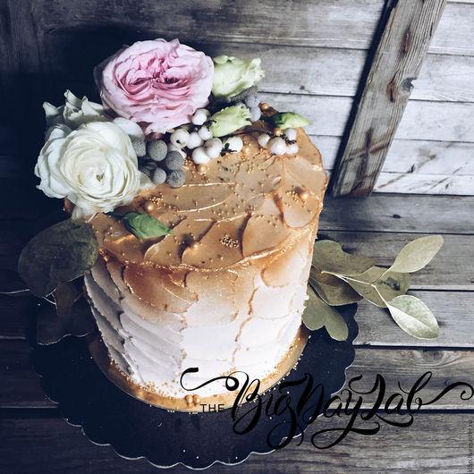 Свадебные аксессуары ручной работы. Ярмарка Мастеров - ручная работа. Купить торт TheBigDayLab. Handmade. Бледно-розовый, топпер