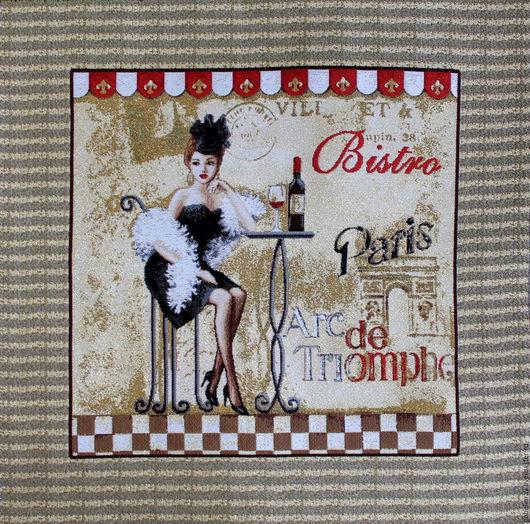 Шитье ручной работы. Ярмарка Мастеров - ручная работа. Купить БИСТРО ПАРИЖ: гобеленовая заготовка без оверлока, 50-50 см. Handmade.
