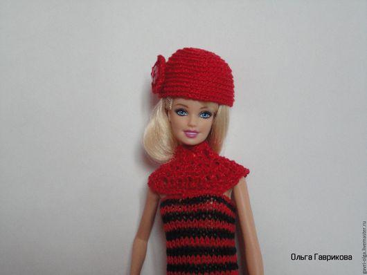 Одежда для кукол ручной работы. Ярмарка Мастеров - ручная работа. Купить Коктейльное платьице для Барби. Handmade. Ярко-красный