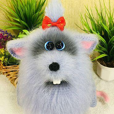 Куклы и игрушки ручной работы. Ярмарка Мастеров - ручная работа Мышка вязаная игрушка. Handmade.