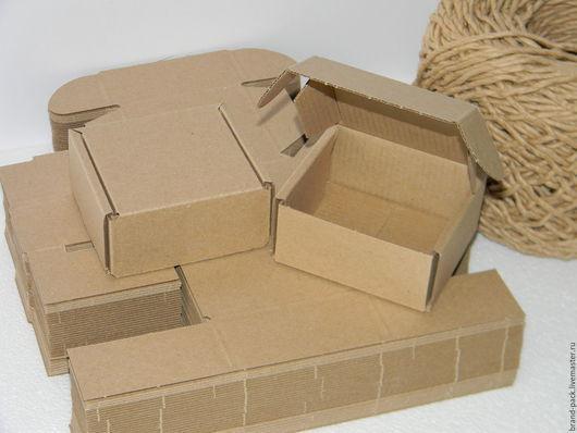 Упаковка ручной работы. Ярмарка Мастеров - ручная работа. Купить Коробка 9x8x4 см, микрогофра. Handmade. Коробка, крафт упаковка