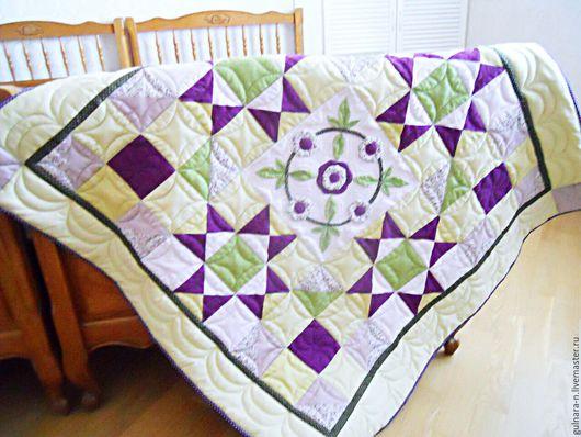 """Для новорожденных, ручной работы. Ярмарка Мастеров - ручная работа. Купить """"Летний сад"""". Handmade. Сиреневый, одеяло, одеяло для новорожденного"""