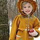 Одежда для девочек, ручной работы. Ярмарка Мастеров - ручная работа. Купить Пальто валяное для девочки Шафран. Handmade. Оранжевый