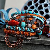 Украшения handmade. Livemaster - original item Bracelet BOHO chic with the beautiful stones of the