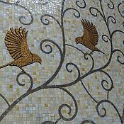 Картины и панно ручной работы. Ярмарка Мастеров - ручная работа птички, мозаичное панно. Handmade.