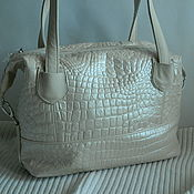 Сумки и аксессуары handmade. Livemaster - original item leather bag. The milk bag crocodile. Handmade.