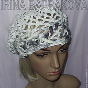 Аксессуары handmade. Livemaster - original item Beret knitted crochet lace No. 206. Handmade.