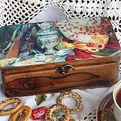 Для дома и интерьера ручной работы. Ярмарка Мастеров - ручная работа Чайная шкатулка Русские традиции. Handmade.