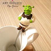 """Посуда ручной работы. Ярмарка Мастеров - ручная работа Ложка с декором """"Шрек"""". Handmade."""