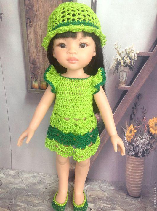 Одежда для кукол ручной работы. Ярмарка Мастеров - ручная работа. Купить яркий наряд для паолочки. Handmade. Зеленый, платье для куклы