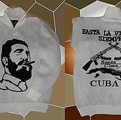 Одежда ручной работы. Ярмарка Мастеров - ручная работа Тату-свитер - Фидель Кастро. Handmade.