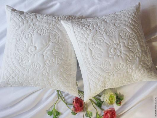 Текстиль, ковры ручной работы. Ярмарка Мастеров - ручная работа. Купить Наволочка на подушку. Handmade. Белый, подарок, наволочка с вышивкой