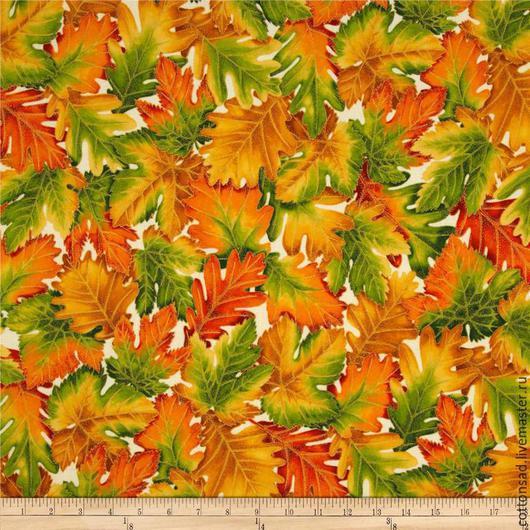 """Шитье ручной работы. Ярмарка Мастеров - ручная работа. Купить Набор тканей.(5 видов) """" Осенние листья"""" Американский хлопок.. Handmade."""