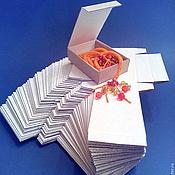Материалы для творчества ручной работы. Ярмарка Мастеров - ручная работа Коробочка с откидной крышкой ЗАГОТОВКА (цена за упаковку 50 шт). Handmade.