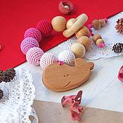 """Куклы и игрушки handmade. Livemaster - original item Прорезыватель-грызунок """"Ягодный китенок"""". Handmade."""