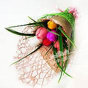 Косметика ручной работы handmade. Livemaster - original item Bouquet of tulips handmade soap flowers as a gift March 8. Handmade.