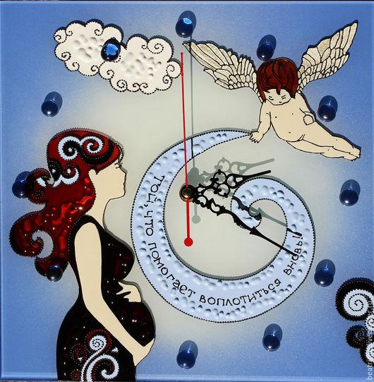 Часы для дома ручной работы. Ярмарка Мастеров - ручная работа. Купить Часы акушеру-гинекологу. Handmade. Васильковый