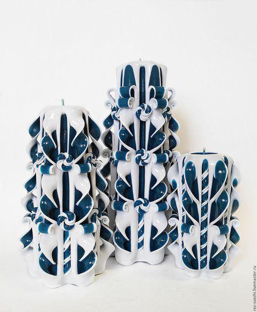 Комплект из 3х Резных Свечей. 1 890 р. Все Свечи надежно упакованы! Купить резные свечи. Резные свечи. Свечи резные интерьерные. Возможно приобрести поштучно