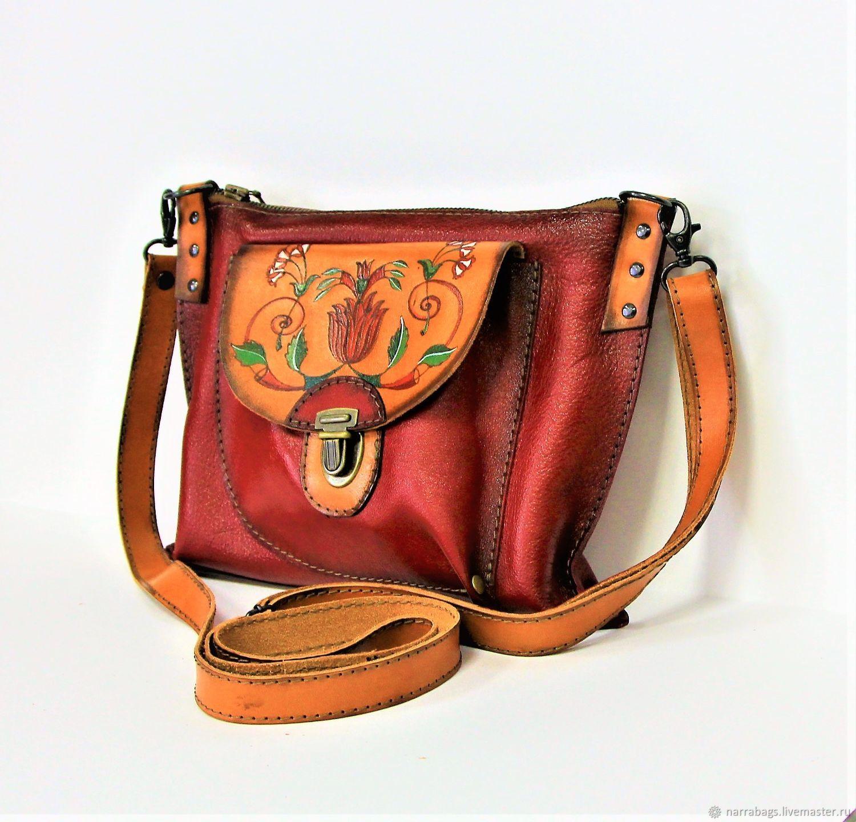 8336c10fc424 Женские сумки ручной работы. Ярмарка Мастеров - ручная работа. Купить  Кожаная сумка