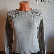 Одежда ручной работы. Ярмарка Мастеров - ручная работа Пуловер ажур на рукавах и спинке. Handmade.