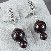Украшения handmade. Livemaster - original item Earrings made of natural garnet stone. Handmade.