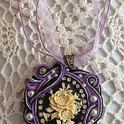 Украшения handmade. Livemaster - original item Pendant, purple FANTASY pendant. Handmade.