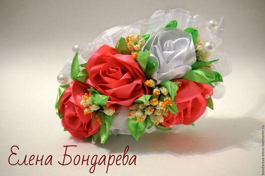 Диадемы, обручи ручной работы. Ярмарка Мастеров - ручная работа. Купить Ободок с чайными розами.. Handmade. Белый, чайные розы