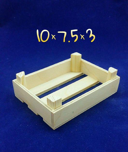 Миниатюрные модели ручной работы. Ярмарка Мастеров - ручная работа. Купить Мини ящик низкий, декоративный. Handmade. Ящик для рукоделия