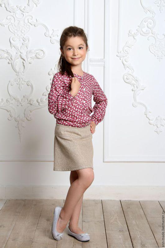 Одежда для девочек, ручной работы. Ярмарка Мастеров - ручная работа. Купить Блузка (Арт.:  Д82). Handmade. Комбинированный, туника