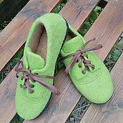 Обувь ручной работы. Ярмарка Мастеров - ручная работа Валяные мокасины. Handmade.