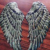 Наклейки ручной работы. Ярмарка Мастеров - ручная работа Крылья ангела из пайеток. Handmade.