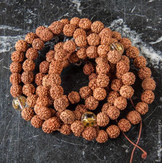 Для украшений ручной работы. Ярмарка Мастеров - ручная работа. Купить Тибетские бусины из семян рудракши, 9 мм. Handmade.