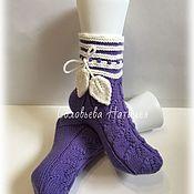 Тапочки ручной работы. Ярмарка Мастеров - ручная работа Вязаные носочки. Handmade.
