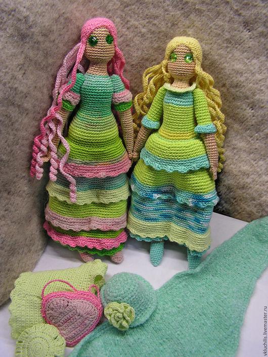 Персональные подарки ручной работы. Ярмарка Мастеров - ручная работа. Купить куклы подружки. Handmade. Кукла ручной работы, салатовый