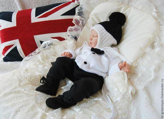 """Одежда ручной работы. Ярмарка Мастеров - ручная работа. Купить Комплект """"English gentlemen"""". Handmade. Чёрно-белый, для новорожденного"""