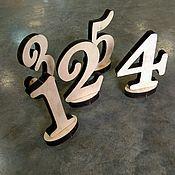 Свадебный салон ручной работы. Ярмарка Мастеров - ручная работа Цифры на стол. Handmade.