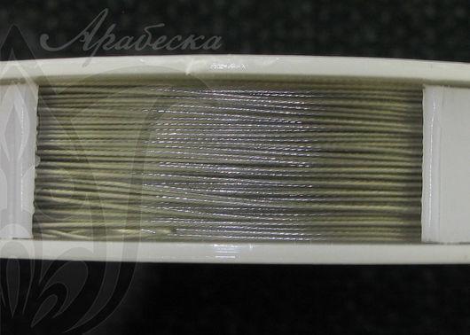 Тросик ювелирный 0.38мм стального цвета 9.2м/упак RAYHER (Германия)