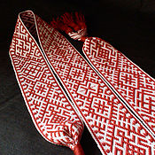 Русский стиль handmade. Livemaster - original item Sash Live, Makosh, Orepa, the heavenly cross, belobog. Handmade.