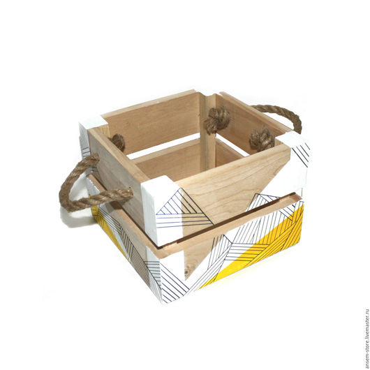 Корзины, коробы ручной работы. Ярмарка Мастеров - ручная работа. Купить Коробочка из дерева Лайта с ручками, Бокс из дерева. Handmade.