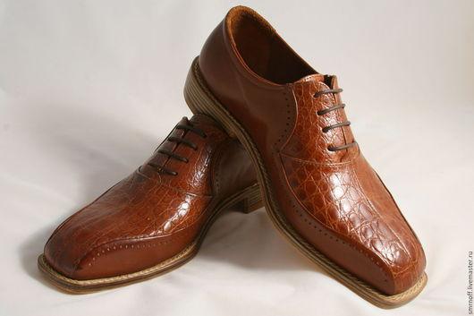 Обувь ручной работы. Ярмарка Мастеров - ручная работа. Купить мужские классические ботинки. Handmade. Коричневый
