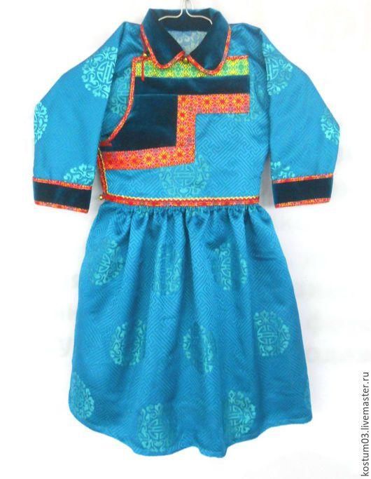 Бурятский традиционный костюм для девочки. Дэгэл купить.