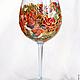 """Бокалы, стаканы ручной работы. Бокалы """"Орхидеи"""". Tintarera. Ярмарка Мастеров. Бокалы для вина, витражные краски"""