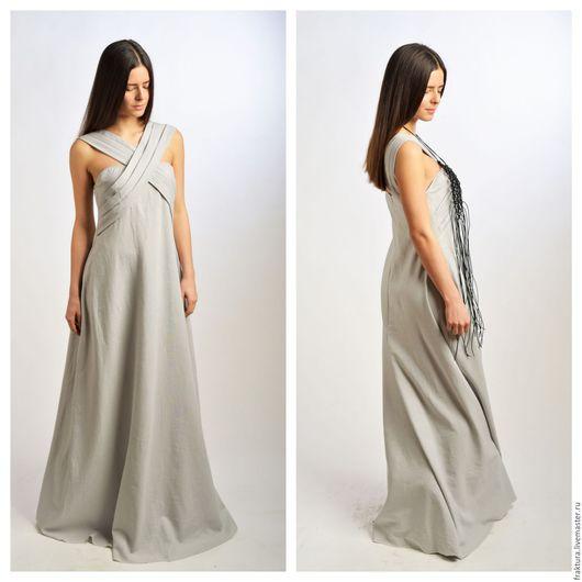 """Платья ручной работы. Ярмарка Мастеров - ручная работа. Купить Платье """"Linen Moves"""" - D0025. Handmade. Стильное платье, лен"""