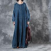 Одежда handmade. Livemaster - original item Cowboy long sleeve dress / cowboy coat. Handmade.