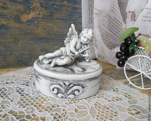 Подарки на Пасху ручной работы. Ярмарка Мастеров - ручная работа. Купить черно-белая шкатулка с ангелом.. Handmade. Чёрно-белый