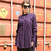Одежда ручной работы. Ярмарка Мастеров - ручная работа Сиреневая рубашка, фиолетовая рубашка, сиреневый. Handmade.
