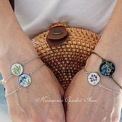Украшения handmade. Livemaster - original item Bracelet with real flowers. Thin bangle. Handmade.